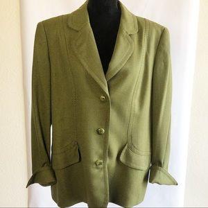 VTG Carlisle Wool Blend Jacket Avocado Green